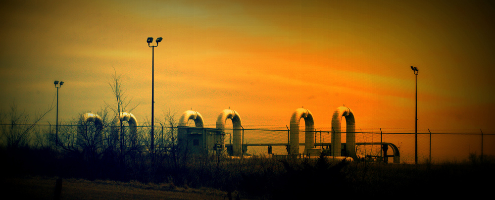 A pumping station on the (existing) Keystone Pipeline System, Nebraska.  Photo: Shannon Ramos.