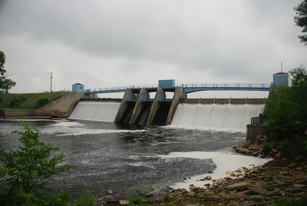 The Holloway Reservoir Dam, which supplied Flint, Michigan with water from 1955-1967 and 2013-2015.  Photo: Tony Faiola.