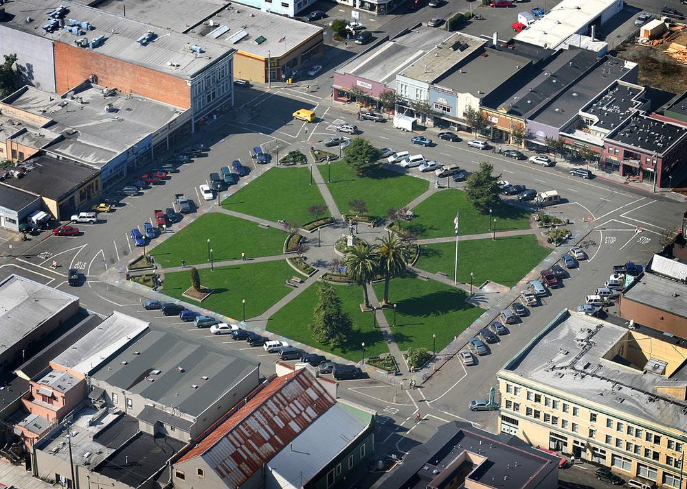Arcata Plaza, Humboldt County, California. Photo: Terrence McNally.