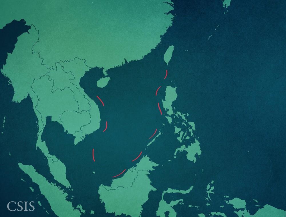 China's 9-Dash Line. Image: Asia Maritime Transparency Initiative.
