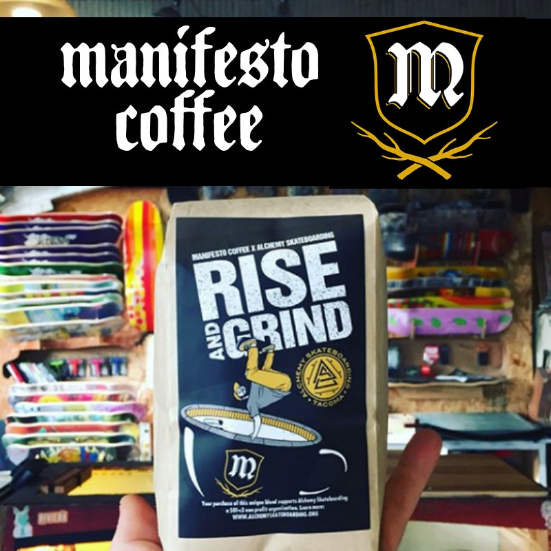 Manifesto Coffee opened its doors in October of 2016. We use organic, fair trade, single origin beans as the foundation for our product. Lead by the coffee roasting talent of Israel Hickey, each member of the Manifesto team has a specific role, bringing their own particular qualities & skills to the table. These variables equate to a well oiled, top notch coffee producing machine.