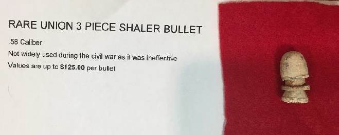 FOTM - Doug Rouner - Civil War Shaler Bullet