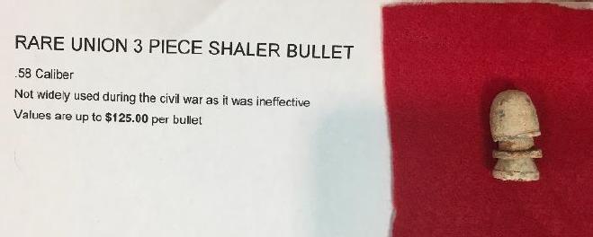 FOTM - Doug Rouner - Civil War Shaler Bullet