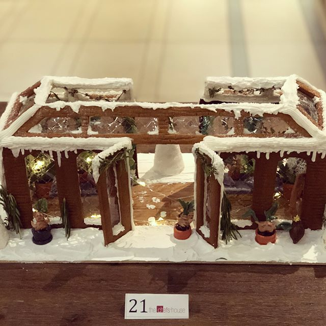 A Harry Potter inspired greenhouse for GBC's Gingerbread Competition 2018!