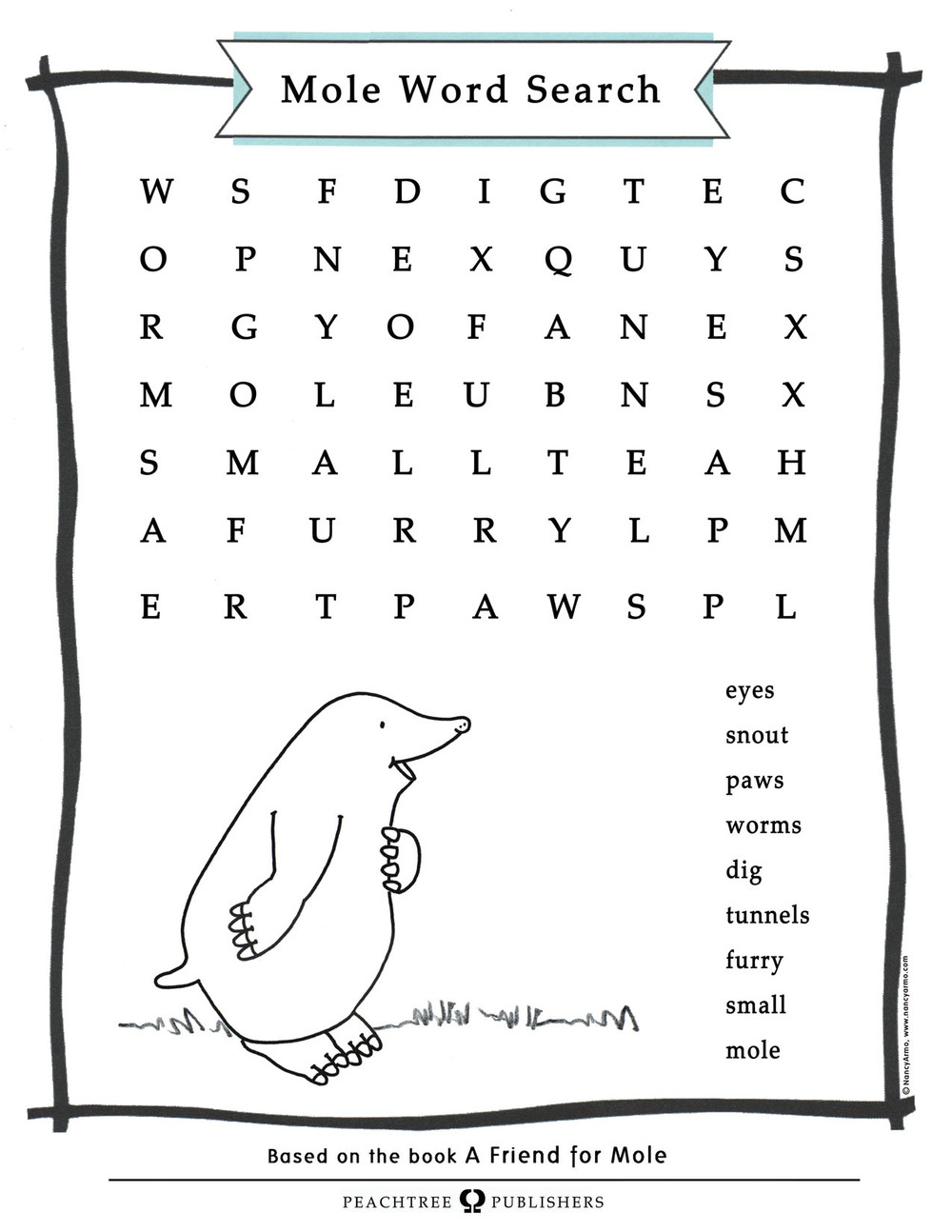Mole Word Search