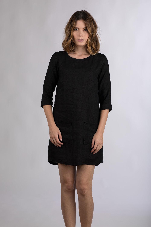 Long Black Shift Dress