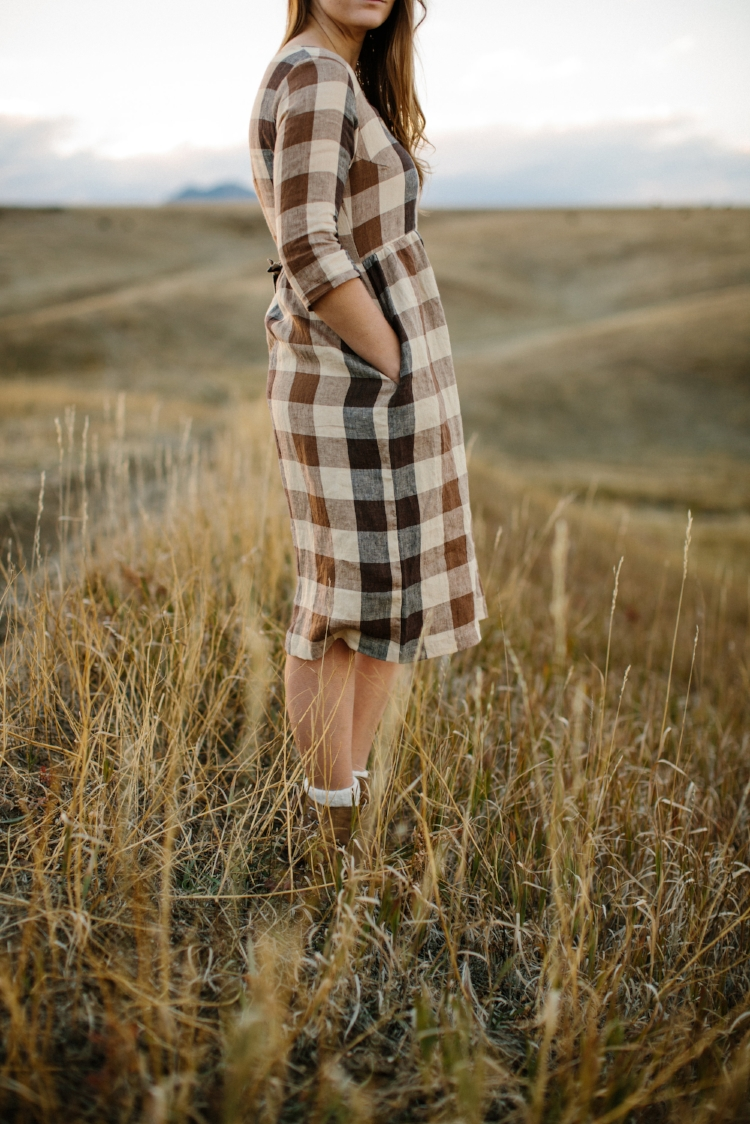 Linen-Dress-Dartmoor-Check-Mid-Sleeve-Midi-Length-Model-No-12-Side-Pyne-&-Smith.jpg