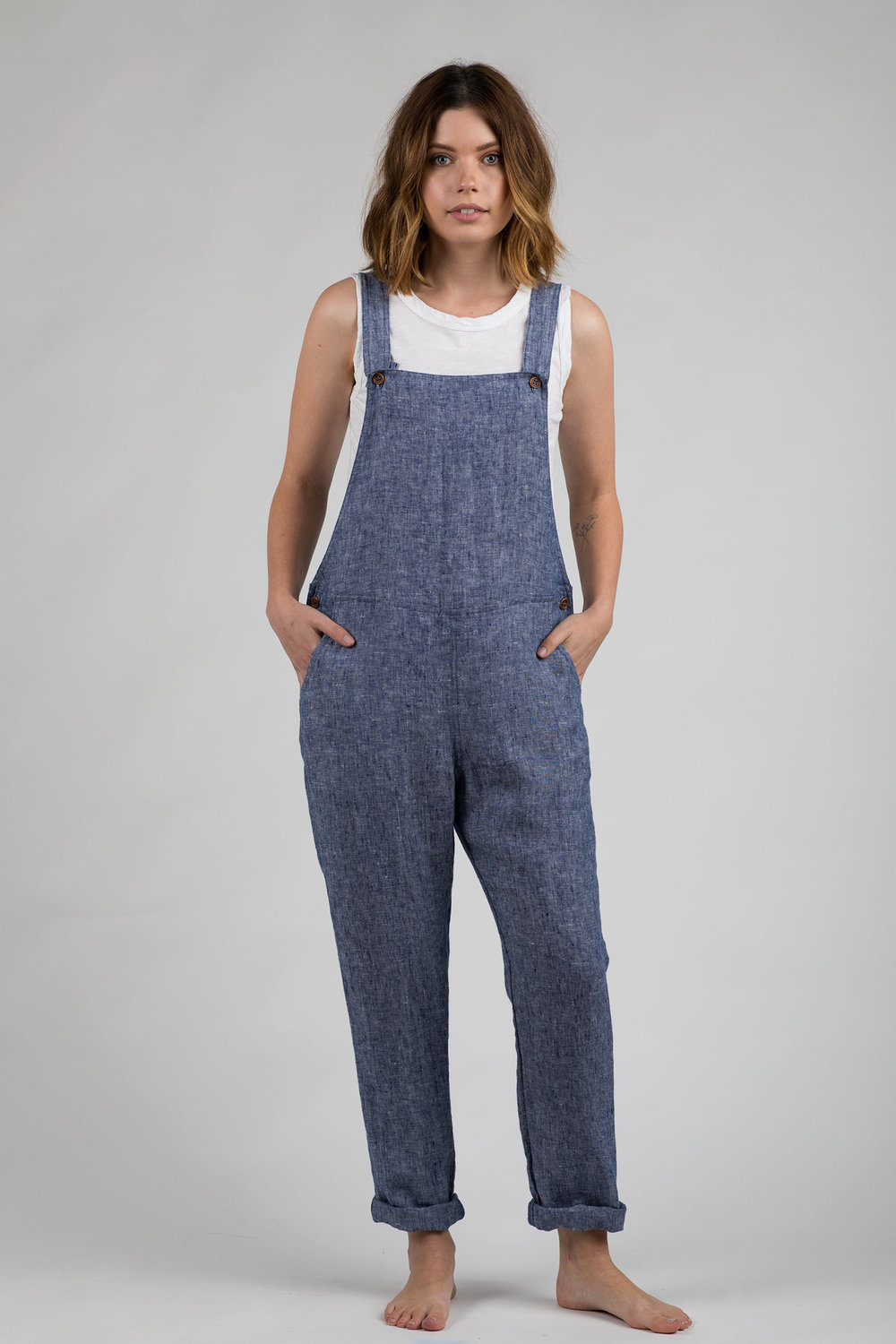 d678fb3217a OVERALLS NO.10 BLUE CHAMBRAY LINEN — Pyne   Smith Clothiers