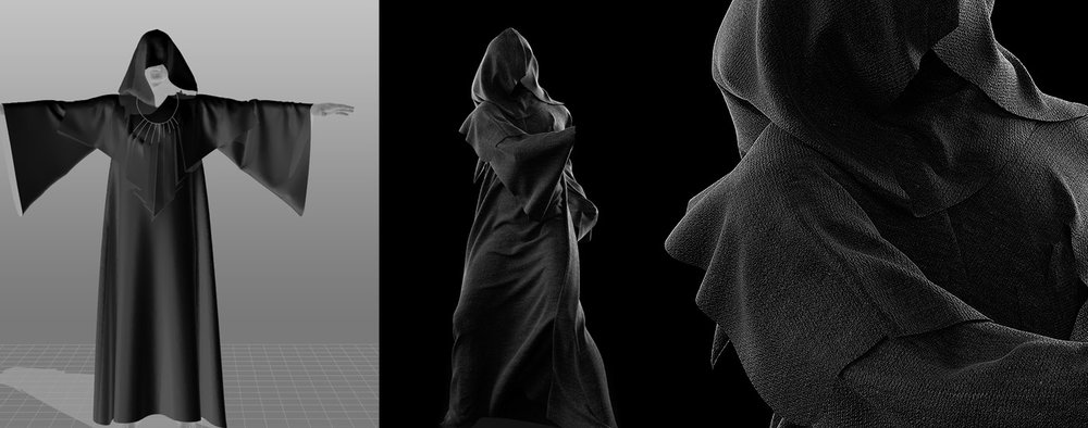 Der Tod | Marvelous Designer 8 used to simulate Cloth