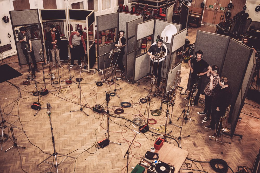 The Brass in Studio 2's historic live room