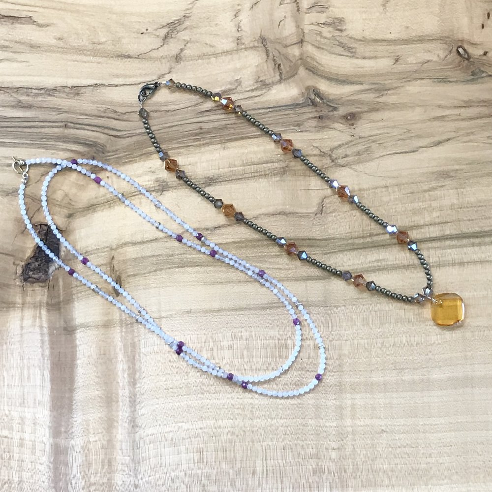 "All beading/wire class instruction is FREE with the purchase of materials. If you have all of your materials from home then classes are $15/person. You will need to pick out your materials upon registration so be sure to leave time. Once registered you will receive 20% off that day and the day of the class. Sweet! To register please visit us at the shop! Have questions? Give us a call at 406-543-0018.    Walk in a beginner--walk out with a beautiful and strong single strand necklace. Learn simple techniques for flexwire, crimp beads, and the clasp of your choice. Come early to select your beads! *Tools will be provided    Registration is required 48 hours in advance. Please call or come by to register, 406-543-0018. Please note we require a credit card on file to register for classes when registering over the phone. Your card will not be charged unless you are a ""no show"" then you will be charged a $15 non-refundable fee. All cancellations must be made 24 hours in advance. Thank you."