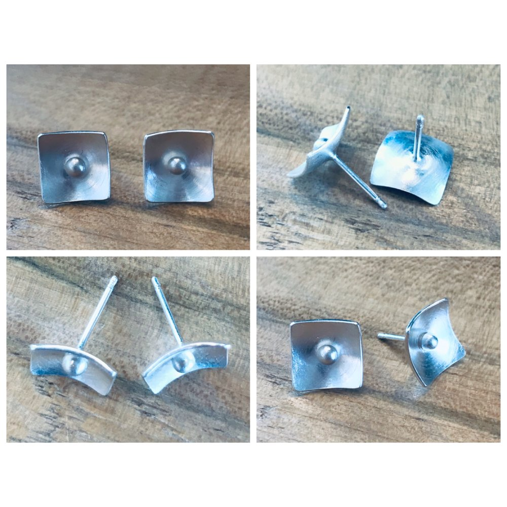 The perfect introduction to soldering using sterling silver. In this 3 hour class Students will learn how to draw a pattern in silver sheet metal, use a jewelers saw to cut out the design, file, and then solder an earring pin to create the perfect pair of post earrings! This class has three spaces available.  *Students must register for this class 1.5wks prior to start date to make certain all supplies are available.   Class is $75/person + $79 supplies kit please call 406-543-0018 to register or come by the shop to sign up. Payment is required upon registration. No refunds 48 hours prior to class.  Students will receive 20% off on regular priced merchandise for thirty days once they are registered for the class.