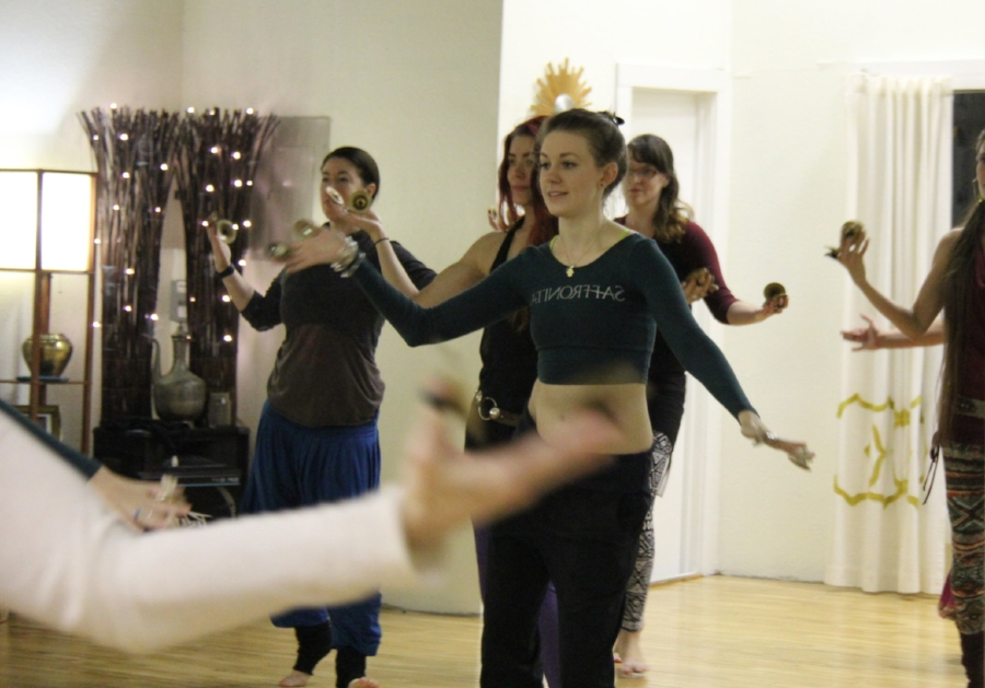 Rose Movement Studio Bellydance Bachelorette Party Class .JPG