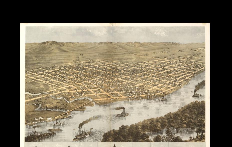 Birdseye View of La Crosse, 1867