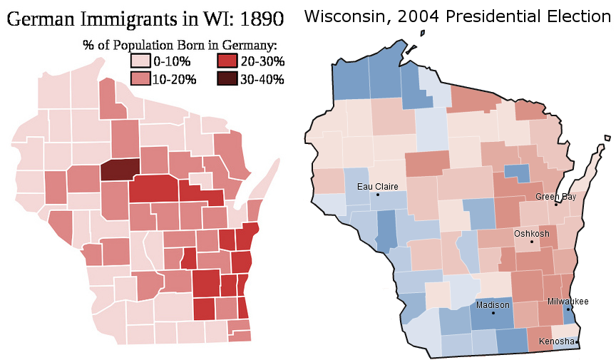 Germans and the Wisconsin Electoral Map