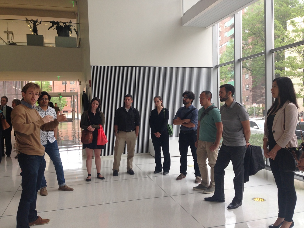 WHAT'S IN team at MIT Media Lab, learning about Robotic Architecture from Hasier Larrea-Tamayo and his team.