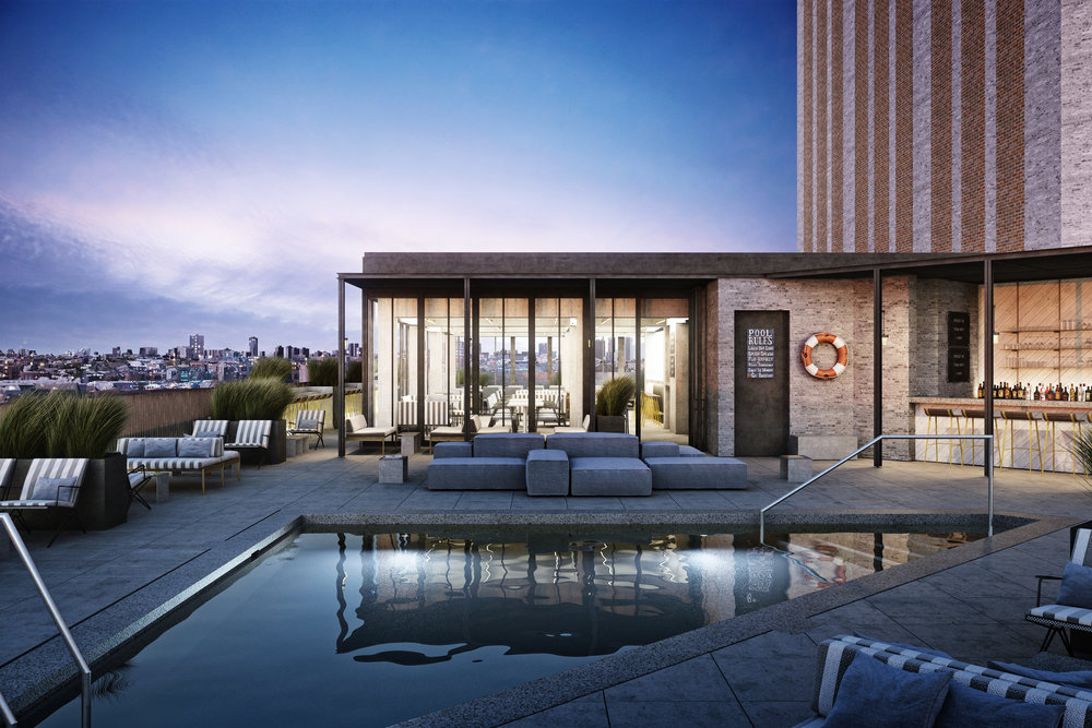 They Robey Hotel, Chicago - Rooftop Terrace - Cabana Club - Marc Merckx Interiors