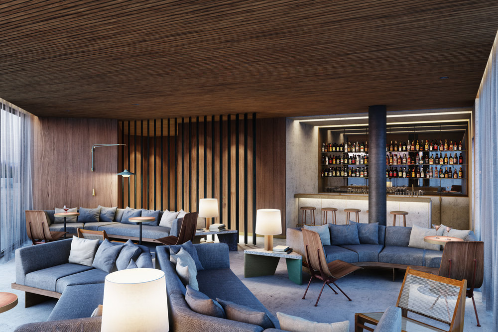 They Robey Hotel, Chicago - Vip Rooftop Bar - Up & Up - Marc Merckx Interiors