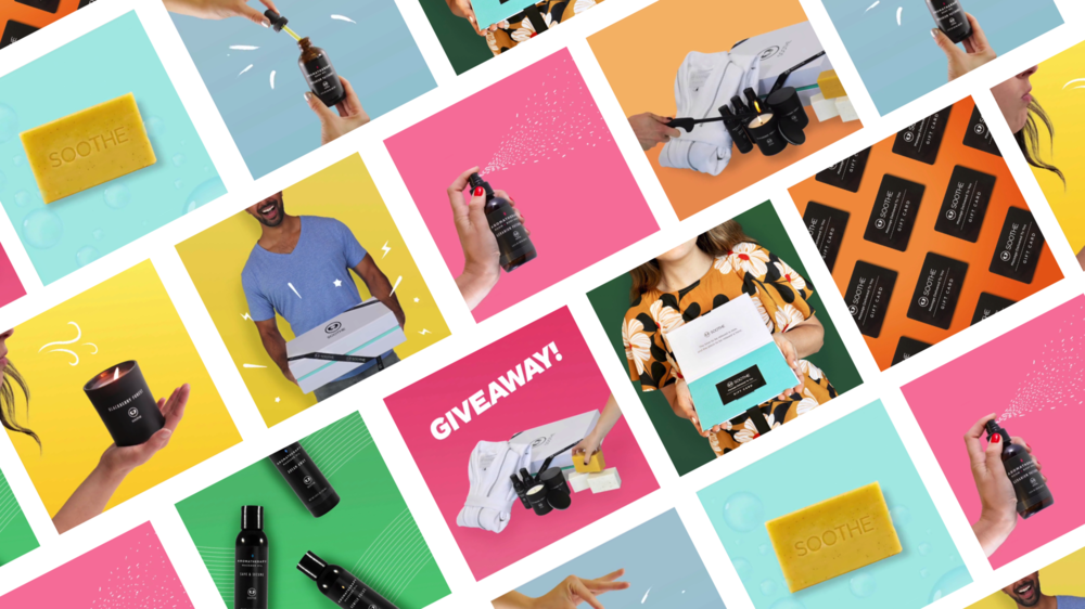 Soothe 10 week giveaway campaign design on social channels. Creative Director: Philip Lowe, Visual Designer: Jaime Daigle, Digital Media Specialist: Stefano Anania
