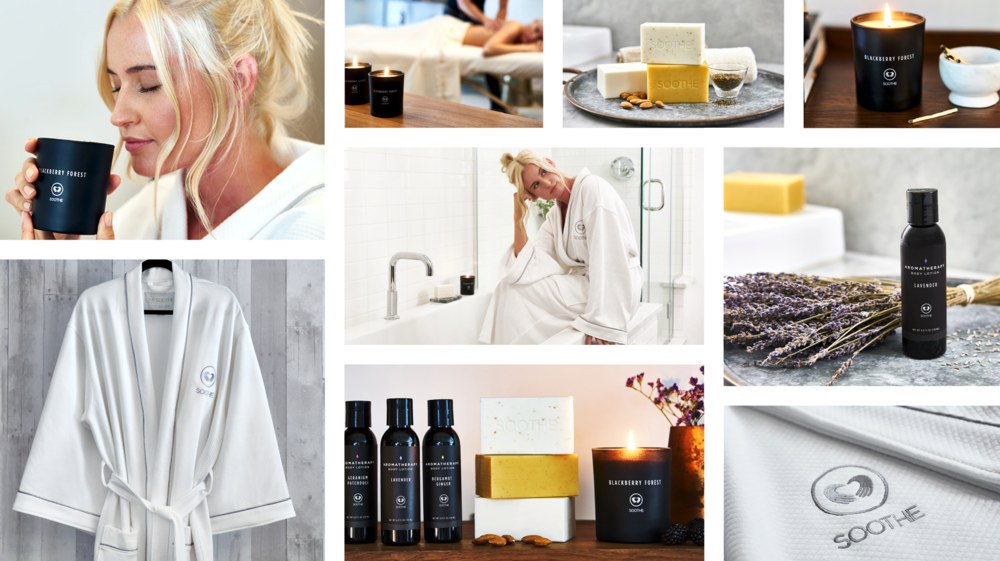 Soothe Collection aromatherapy line. Hand-selected and chose scents, ingredients and materials along with design and marketing (photoshoot + shopify site) to create an essential line enhancing Soothe's massage experience.