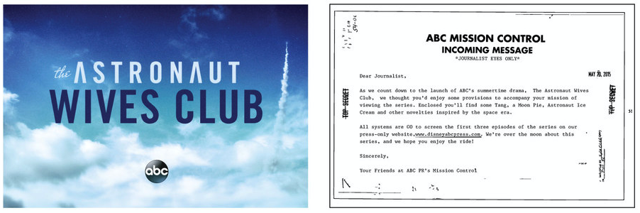 The Astronaut Wives Club launch invite