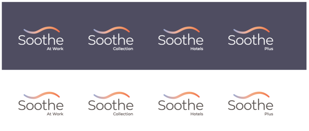 Soothe sub-brand logo style