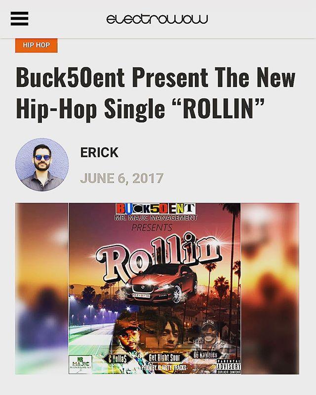 #gm  #ROLLIN @electrowow  #blogger  #record  #review  #electro  #hiphop  #promo  #vlog  #itunes  #spotify  #googleplay  #nonstopgrind  #nodaysoff  #mtv  #bet  #djs  #cmdnj  #nj  #streetpromo  #knodat  #wordup  #bsafe  #buck50entdotcom  #️⃣1️⃣5️⃣0️⃣ ☝🏽️✋🏽👌🏽