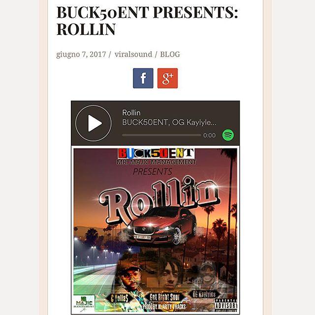 #ROLLIN  #newmusic  #viralsound  @viralsound  #blog  #vlogger  #post  #hiphop  #Dj  #promo  #nonstopgrind  #nodaysoff  #itunes  #spotify  #googleplay  #linkinbio  #cmdnj  #Nj  #buck50ent  #buck50entdotcom  #knodat  #wordup  #bsafe  #️⃣1️⃣5️⃣0️⃣ ☝🏽️✋🏽👌🏽