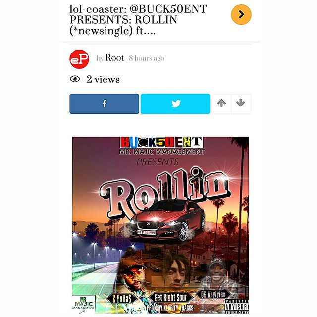 #ROLLIN  #10ztalk.com @gaitoulabackder #promo  #blog  #vlog  #newlink  #newmusic  #newsingle  #hiphop  #djs  #Hmu  #buck50ent  #buck50entdotcom  #cmdnj  #Nj  #nodaysoff  #nyc  #linkinbio  #itunes  #spotify  #googleplay  #youtube  #knodat  #wordup  #bsafe  #️⃣1️⃣5️⃣0️⃣ ☝🏽️✋🏽👌🏽
