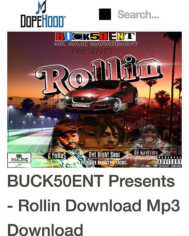 #ROLLIN  #dopehood  #newlink  @dopehoodhq  #newmusic  #newpost  #buck50entdotcom  #buck50ent  #hiphop  #dj  #cmdnj  #Nj  #itunes  #spotify  #youtube  #uk  #Nyc  #linkinbio  #tumblr  #blog  #vlog  #nolimit  #nonstopgrind  #knodat  #wordup  #bsafe
