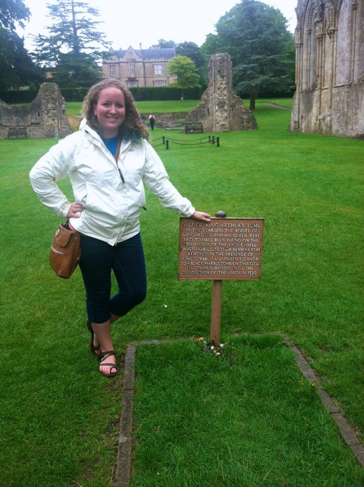 Me at King Arthur's legendary grave, right before my mind got blown by my first reader.