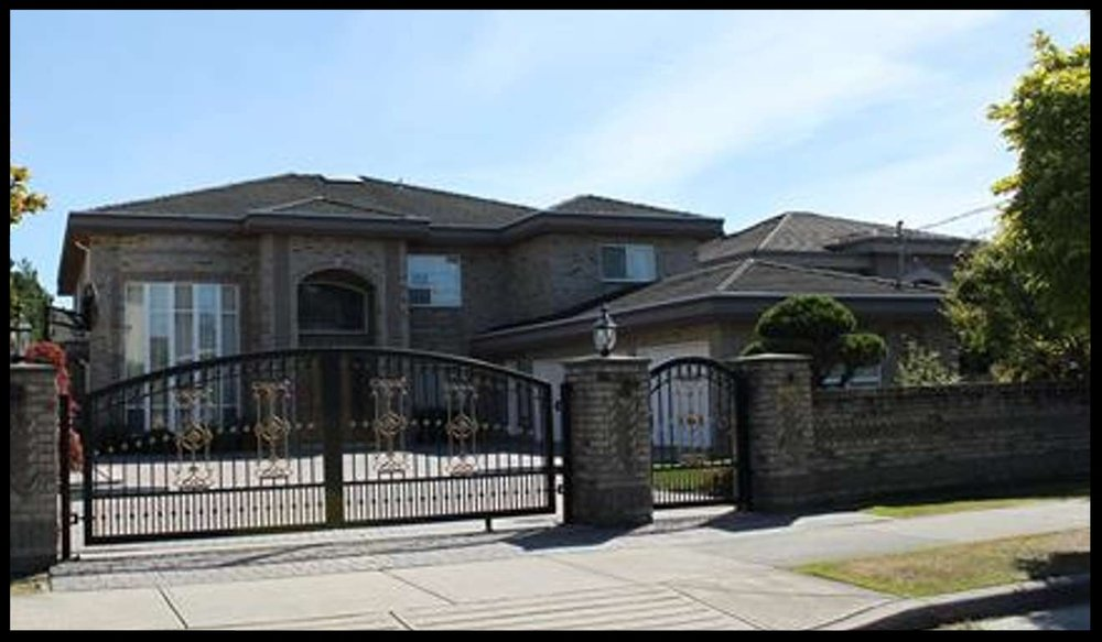 A C$3.56 million mansion at 6620 Mang Road, Richmond, BC, that was purchased by Chinese fraudsters involved in the theft of US$485 million from the Bank of China. Two other houses were purchased nearby.  Photo: BC Assessment