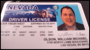 The Secret Service marketed its Nevada license as encased in a genuine state laminate.