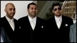 Police say Nabil Alkhalil, left, and Robby Alkhalil, right, have both used fraudulently obtained genuine Canadian passports. All three brothers, including Hisham, who goes by the nickname Terry, centre, have faced cocaine trafficking charges.  (thedirty.com)