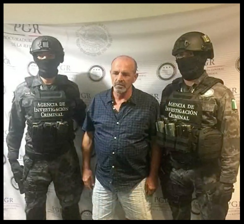 Giulio Perrone, who has been wanted in connection to drug trafficking, in custody in Mexico in March.   Mexican attorney general/Univision