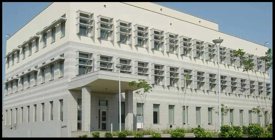 The real US embassy in Accra, Ghana.  Photograph: diplomacy.state.gov