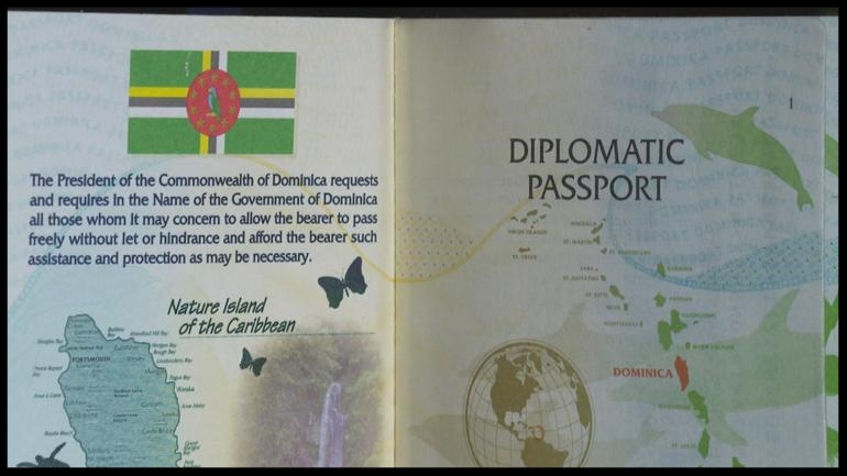 A diplomatic passport from Dominica  CBS NEWS
