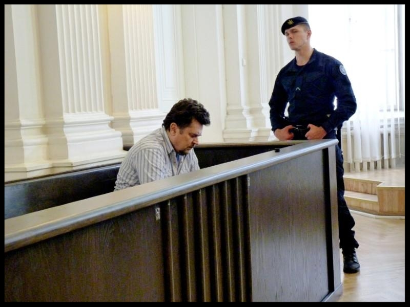 Evaldas Rimasauskas ahead of a verdict announcement in his extradition case at a court in Vilnius, Lithuania July 17, 2017.