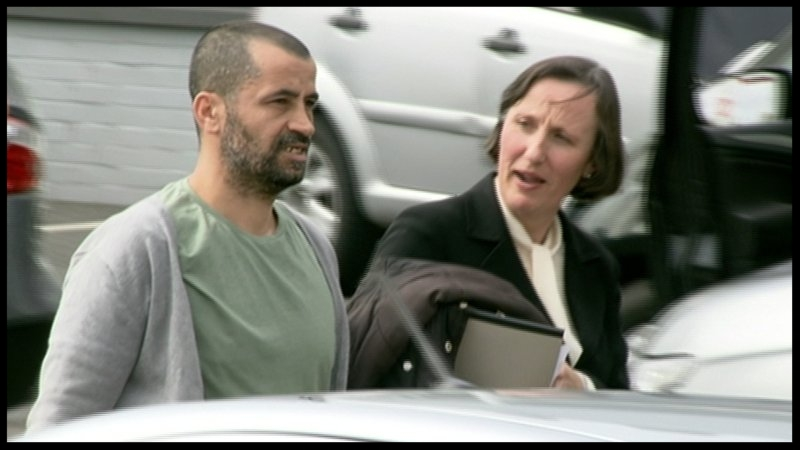Ali Charaf Damache was discharged and walked out of the High Court this afternoon  (Pic: RTÉ Prime Time)