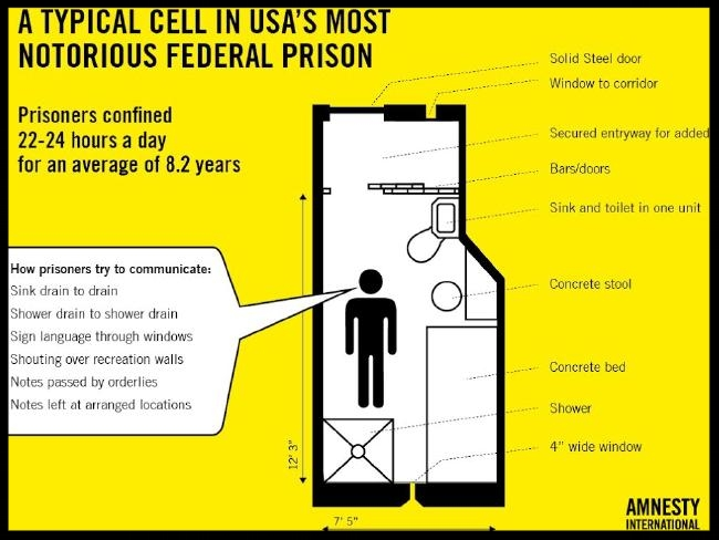 A typical isolation cell at ADX.  Source: Supplied