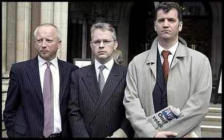 (L-R) Giles Darby, David Bermingham and Gary Mulgrew were extradited to the US in July 2006