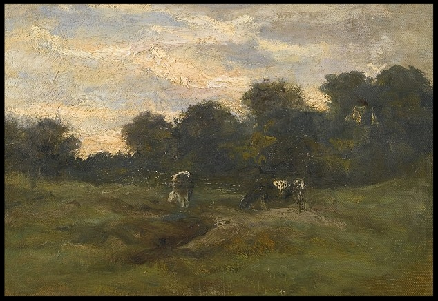 Vincent van Gogh,  Cows in the Meadow  (1883). Courtesy of Sotheby's London.