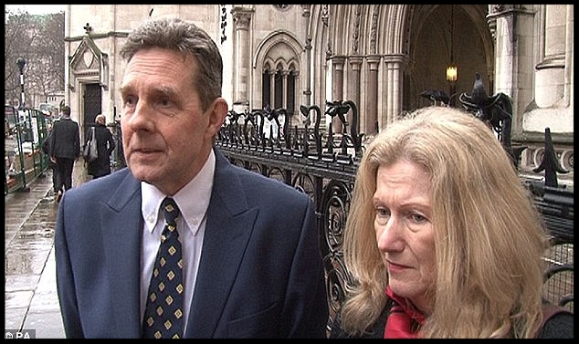 Paul and Sandra Dunham pictured outside the High Court PA