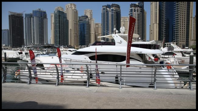 Dubai marina where Fadi and Michael Ibrahim were arrested.  Picture: Trevor Goddard