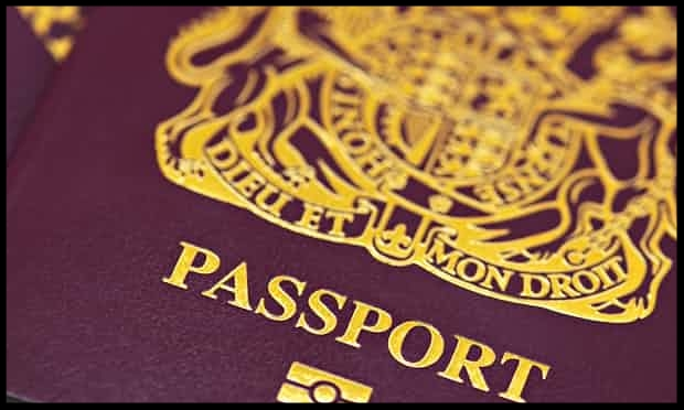 A British passport.