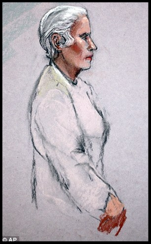 Hearing: Catherine Greig, girlfriend of Bulger, is shown during her initial appearance in a federal courtroom in Boston.