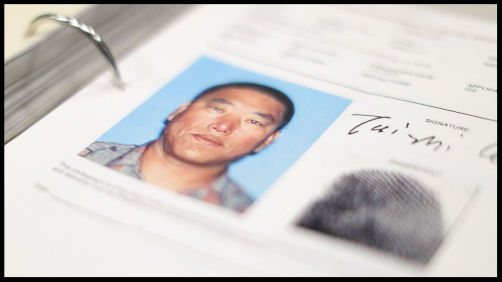 A photo of Tai Zhi Cui in the LAPD's files on a Koreatown triple murder.  (Myung J. Chun / Los Angeles Times)