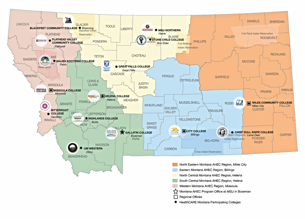 Regional Map of Montana