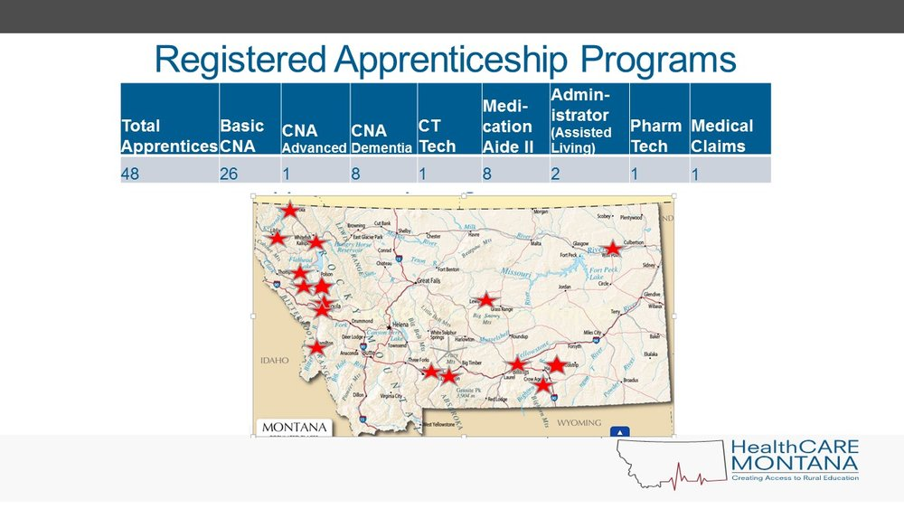 Image of Apprenticeship locations in Montana