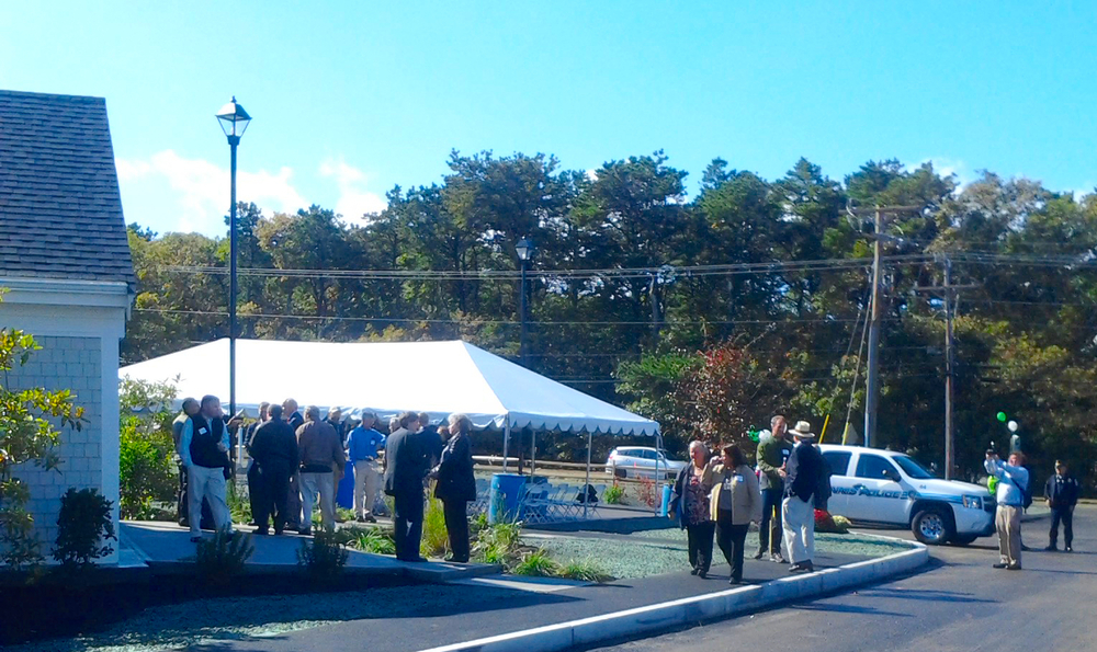 welcomers arrive for the unveiling / the residences at melpet farm, so. dennis, ma 10/16/15